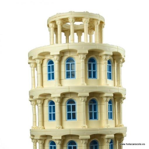 Vista de detalle de La Torre Inclinada de Gecco