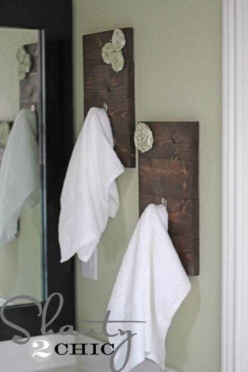 Un toque r stico diy para decorar el lavabo decora decora for Colgadores para toallas