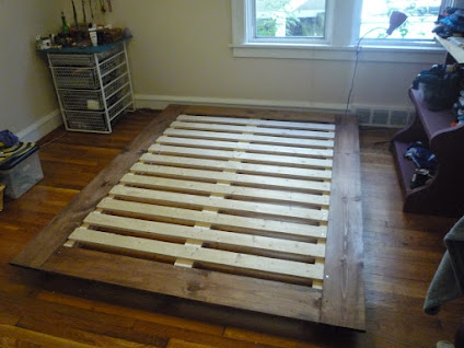 New  Yumiko Henneberry and I built a DIY platform bed for our futon this weekend