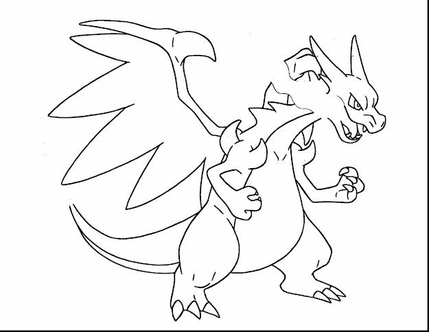 Impressive Pokemon Mega Charizard Coloring Page With Charizard Coloring  Pages And Charizard Coloring Pages