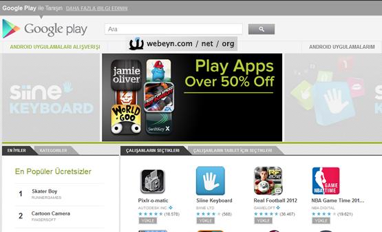 Google Play ekran görüntüsü