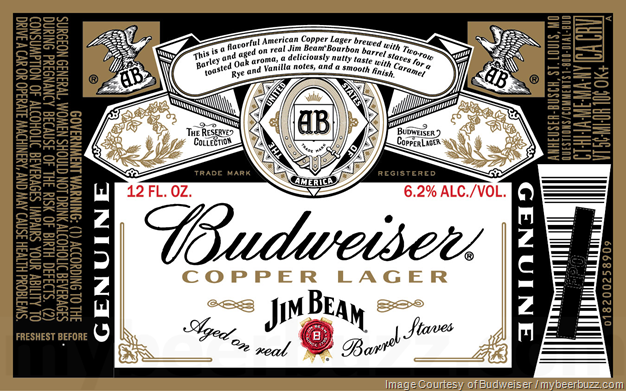 Budweiser & Jim Beam Collaborate On Copper Lager--Full Packaging