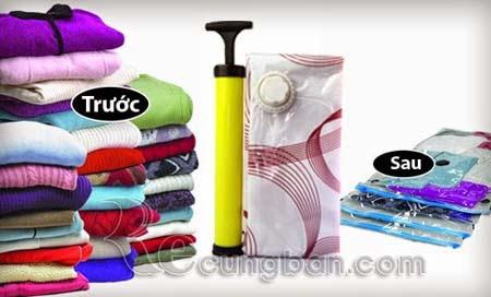 Bộ 8 túi hút chân không kèm bơm tay tiện dụng