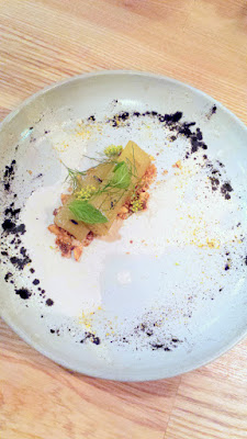 Eggplant, coriander filbert yogurt, fried hazelnuts, fennel pollen, mint, dill