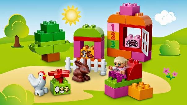 Sản phẩm xếp hình Lego 10571 Thùng gạch hồng Duplo vui nhộn làm từ chất liệu nhựa ABS rất bền đẹp