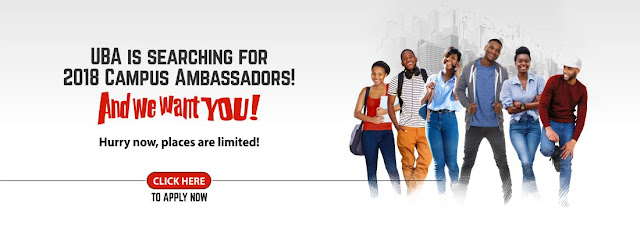 UBA Campus Ambassador Programme 2018: How To Apply