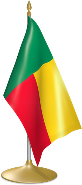 Beninese table flags - desk flags