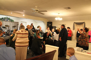 Charles praying with Andres in the altar and Andres received the Holy Ghost this night !! It was wonderful!