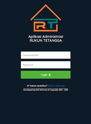 Login Aplikasi RT