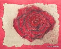 """Baccara"", Pastell auf handgeschöpftem Papier, 2006"