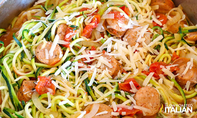 skillet recipe with zucchini and sausage