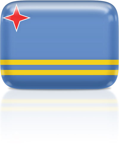 Aruban flag clipart rectangular