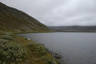 Kuva: Järven rannassa kulki välillä kapea polku, josta oli hyvä kulkea