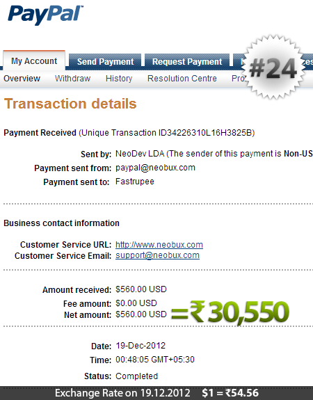 Neobux Payment Proof 24