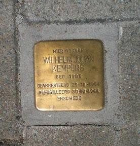 Wilhelm Johan Kempers - Hofstedeweg 109 - Stolperstein Enschede