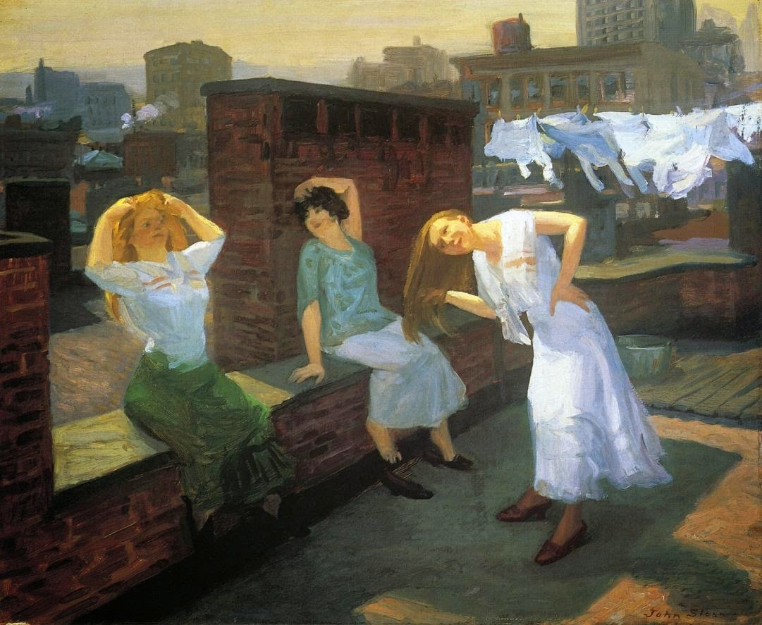 John Sloan - Sunday, Women Drying Their Hair