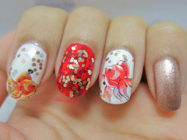 Chinese New Year Nail Art - 年年有餘 - chichicho~