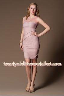 trendyol sandro Üstü Tül pudra pembesi Elbise