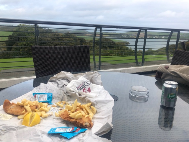 Eating my takeaway at Kinsale's McDonald's spa hotel