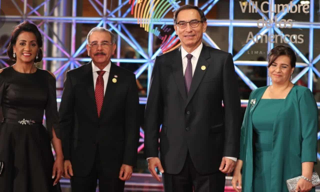 Danilo Medina y Cándida Montilla de Medina asisten al acto inaugural VIII Cumbre de las Américas