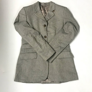 Burberrys' Silk Herringbone Tweed Blazer