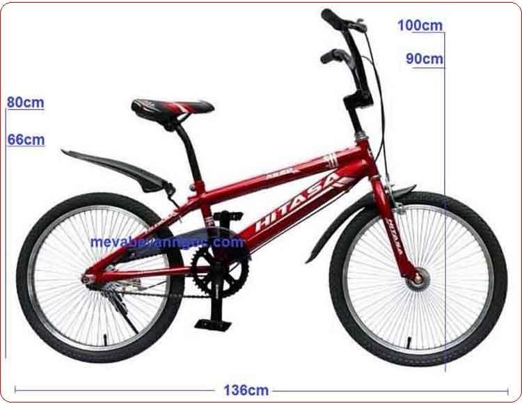 kích thước Xe đạp trẻ em Hiphop Hitasa 500