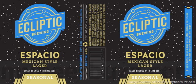 Ecliptic Brewing Espacio Mexican-Style Lager Coming To Cans