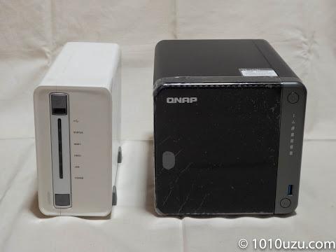 QNAP TS-212とTS-453D