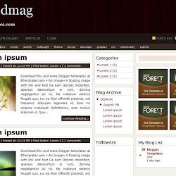 Google Blogger テンプレート - Woodmag