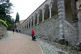 Heading to the top of Castello di Udine