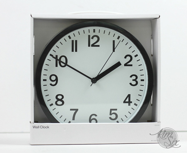 Simple Inexpensive wall clock