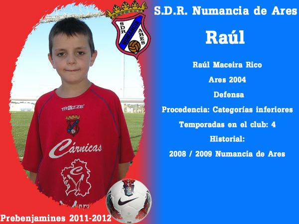 ADR Numancia de Ares. Prebenxamíns 2011-2012. RAUL.