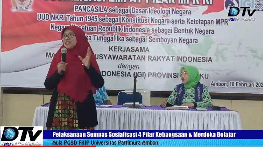 Seminar Nasional 4 pilar Kebangsaan MPR RI dan IGI Maluku