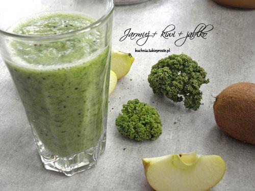 Zielony koktajl z kiwi