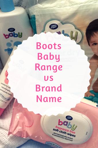 Boots Baby range vs brand name