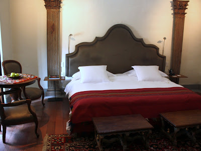 Suite at the Inkaterra La Casona hotel in Cuzco Peru