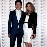 WWW.ENTSIMAGES.COM -  Chris Mears  arriving at a Fundraising event in aid of Cancer Research UK at The Roof Gardens Kensington High Street, London April 3rd 2013                                                    Photo Mobis Photos/OIC 0203 174 1069