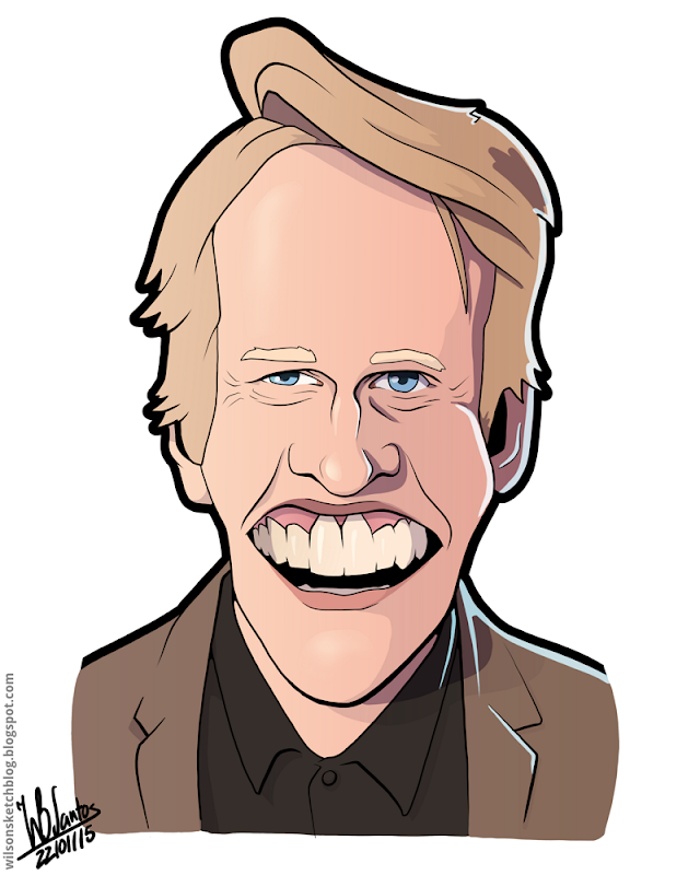 Cartoon caricature of Gary Busey.