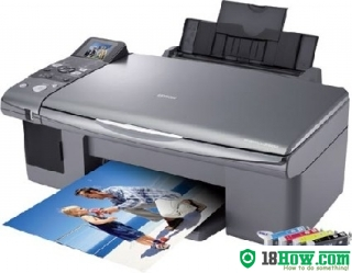 How to reset flashing lights for Epson CX6000 printer