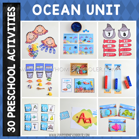 Ocean Themed Preschool Unit Mega Pack