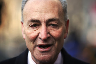 Photo: NEW YORK, NY - FEBRUARY 04:  U.S. Sen. Chuck Schumer (D-NY) attends funeral services for former New York City Mayor Ed Koch at Manhattan's Temple Emanu-El on February 4, 2013 in New York City.The iconic former New York mayor passed away on February 1, 2013 in New York City at age 88. Ed Koch was New York's 105th mayor and ran the city from 1978-89. He was often outspoken and combative and has been credited with rescuing the city from near-financial ruin during a three-term City Hall run.  Former Governor Mario Cuomo is at left.  (Photo by Spencer Platt/Getty Images)