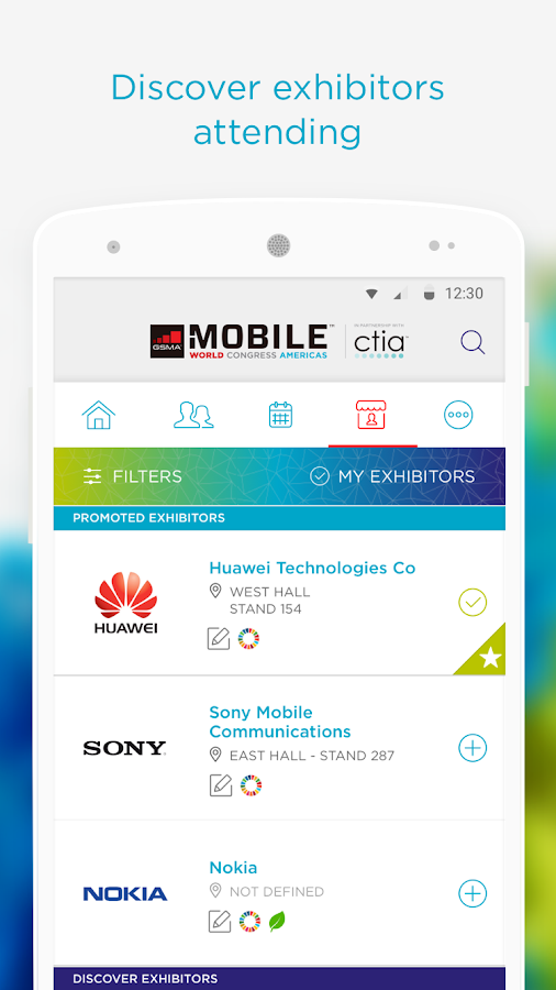 My MWC Americas Event App- screenshot