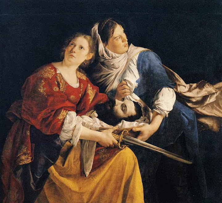 Orazio Gentileschi - Judith and Her Maidservant with the Head of Holofernes.