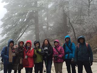 2016年3月6至10日,六位同學組團遊黃山