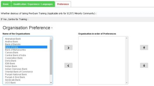 IBPS-preference-registration