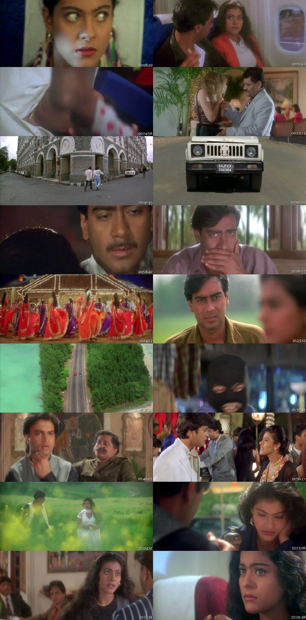 Screen Shot Of Pyaar To Hona Hi Tha 1998 300MB HDRip 480P Full Hindi Movie Watch Online Free Download