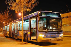 Autobús EMT desde Atocha hasta el centro de acogida de Vallecas por 'Campaña de Frío 2014-15'