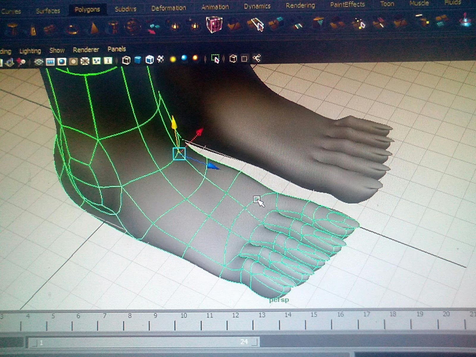 me you foot modelling