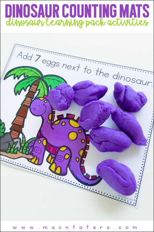 Dinosaur Themed Counting mats