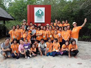 Photo: The group after the walk in the forest